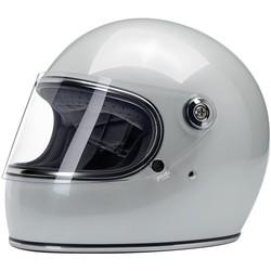 Casque Gringo S Metallic Pearl White, et homologué ECE