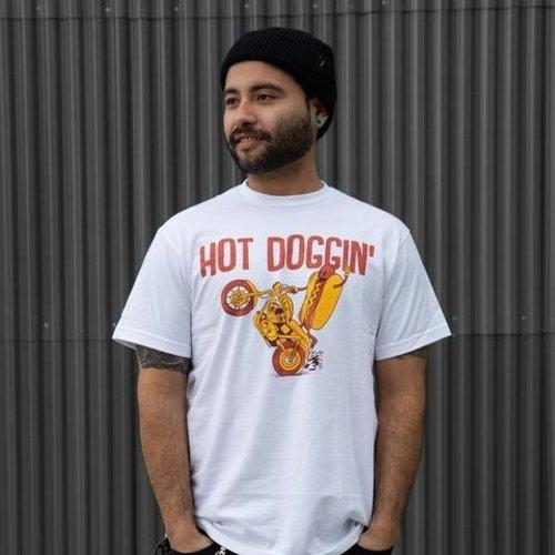 Biltwell Hot Doggin T-shirt - Wit