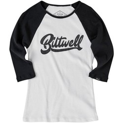 Women's Cursive Raglan T-Shirt - Black/White