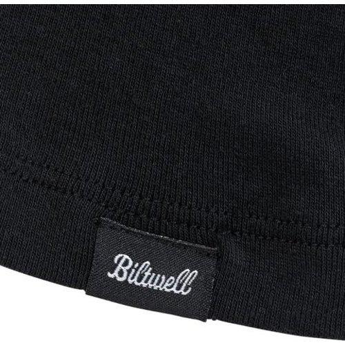 Biltwell Women's Cursive Raglan T-Shirt - Black/White