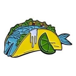 Taco Poisson Pin Enamel