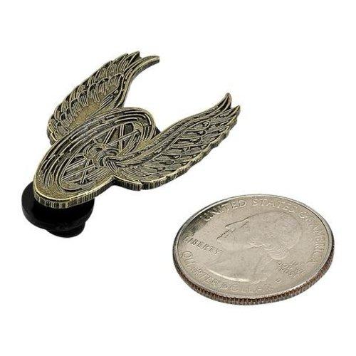 Biltwell Enamel Pin Winged Wheel - Brass