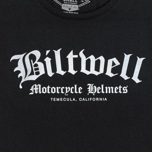 Biltwell Women's Old English Crop - zwart / wit