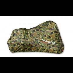 Motorzeil Camouflage buiten