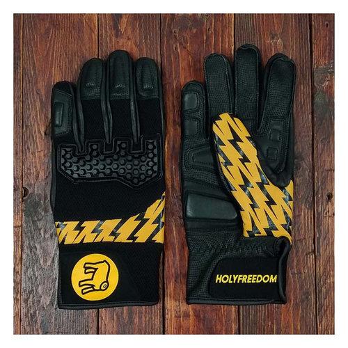 Holy Freedom Saetta Handschuhe Schwarz / Gelb