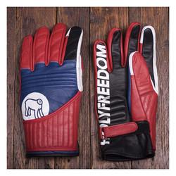 Flat Track Gloves Rood