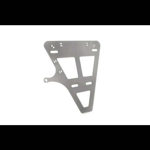 Kennzeichenhalter Grundplatte mit Kennzeichenbeleuchtung und Montagematerial
