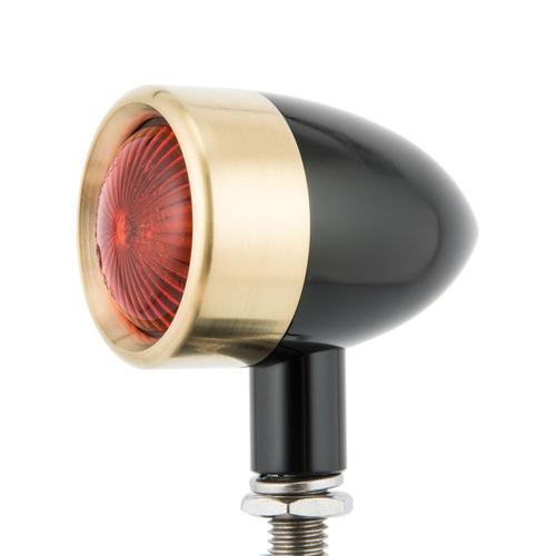 Motone Custom Billet Indicator Blinker - Set von 4 - Schwarz / Messing