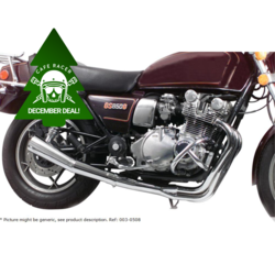 Suzuki GS 1000 4-into-2 exhaust system Turn Out Chrome