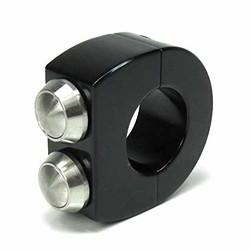mo.switch 2 knops 22mm Zwart/RVS