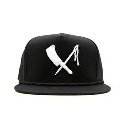 cap logo snapback black