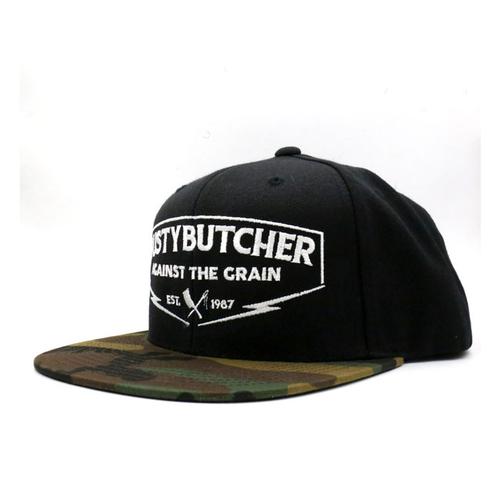 Rusty Butcher cap against the grain snapback black