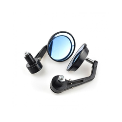 "Black Bar End Mirrors for 7/8"" or 22 mm Bars"