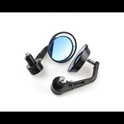 """CNC Black Bar End Mirrors für 7/8 """"oder 22 mm Stangen"""