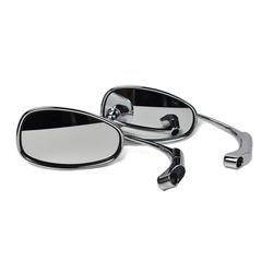 Adjustable Bar end Mirror ABS Chrome