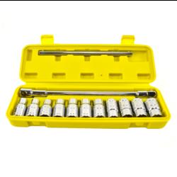 Steckschlüsselsatz Einstellbar  11-Teilig