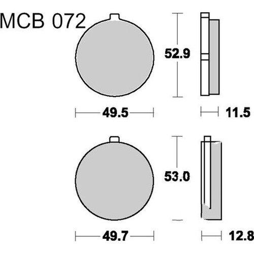 TRW Brake pad standard MCB72