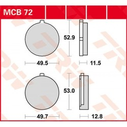 Bremsklotz Standard MCB72