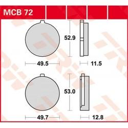 Plaquette de frein standard MCB72