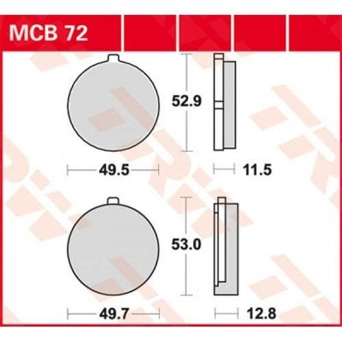 TRW Bremsklotz Standard MCB72