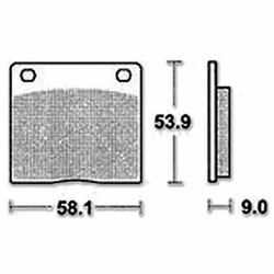 Brake pad standard MCB73 Suzuki / Kawasaki