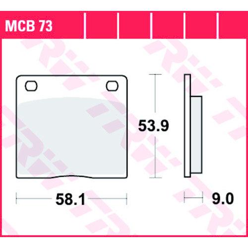 TRW Brake pad standard MCB73 Suzuki / Kawasaki