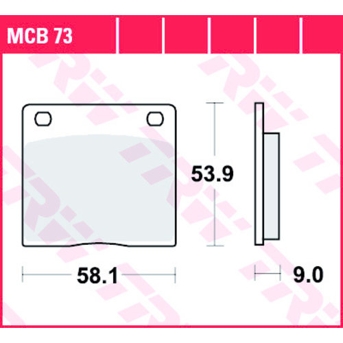 TRW Plaquette de frein standard MCB73 Suzuki / Kawasaki