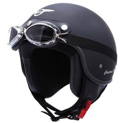 Custom Rider Mattschwarzer Jethelm