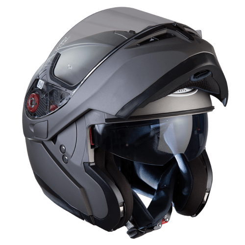 MT Helmets Optimus Matte Black Systemhelm