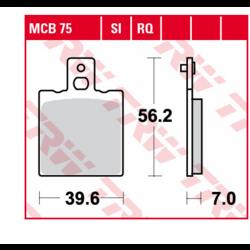 Brake block MCB75
