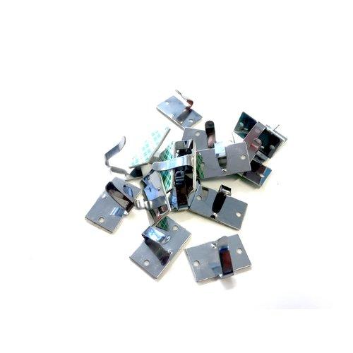 Aluminum Cable Clamp With Adhesive Tape (Minimum order amount = 10)