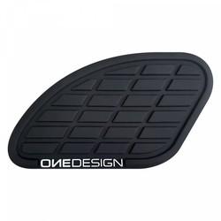 Tankpad mat Zwart links en rechts 17 CM X 9,35 CM (kies je kleur)