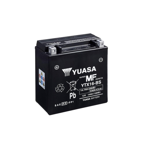 Yuasa YTX16-BS Maintenance Free Battery