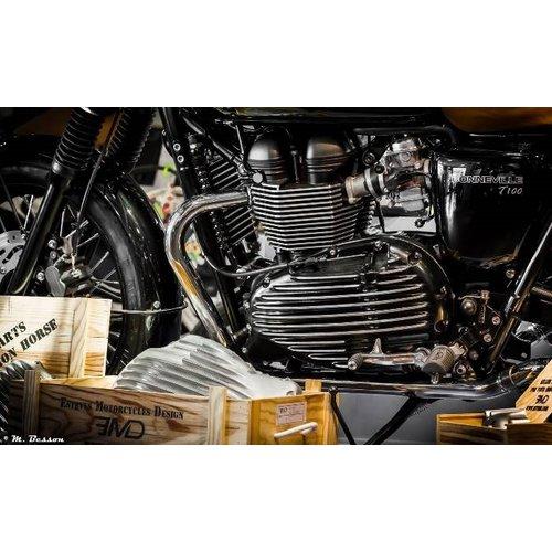 Gerippte Primärabdeckung Triumph T100 & 865 Modelle