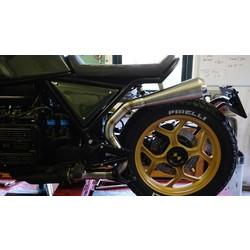 High Mount Uitlaat Link-pijp BMW K100 (roestvrij staal)