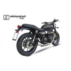 Ironhead Muffler Set for Triumph Street Twin 900 EFI ABS, (DP01), 16-18, (Euro4)