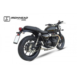 Ironhead Schalldämpfer für Triumph Street Twin 900 EFI ABS, (DP01), 16-18, (Euro4)