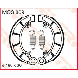 Honda CB Brake shoes MCS809