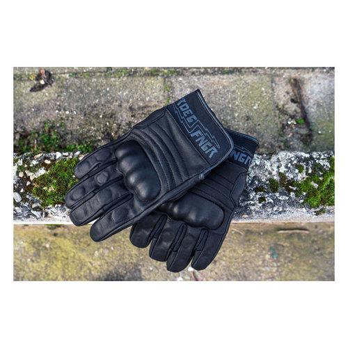 Roeg FNGR Motor Handschoenen Leer FNGR Zwart