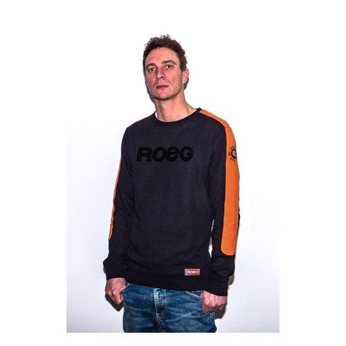 Roeg Randy Sweater Zwart/Oranje