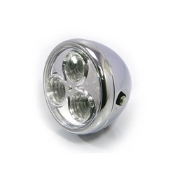"SALE 6.75 ""Chrome Projector Cafe Racer Headlight"