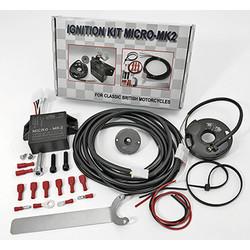 Elektronischer 6 & 12 Volt Zündsatz für Zweizylindermotorräder