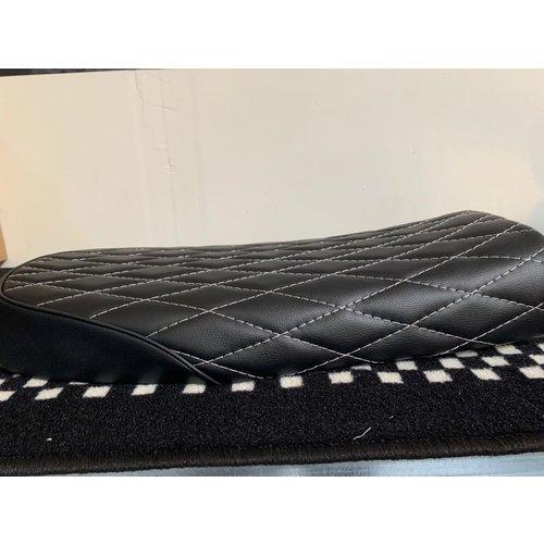 SAMPLE High quality Diamond stitch scrambler seat black