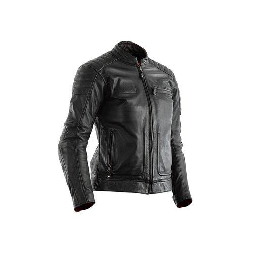 RST Black Roadster II CE Leather Motorcycle Jacket Ladies