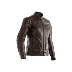Brown Roadster II CE Leather Motorcycle Jacket Ladies