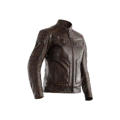 RST Brown Roadster II CE Leather Motorcycle Jacket Ladies
