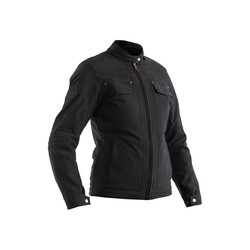 Blouson moto noir mat IOM TT Crosby CE Textile Femme