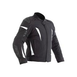 Dames de textile de veste de moto de GT CE noir / blanc