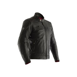 Black Roadster II Leather Motorcycle Jacket Men