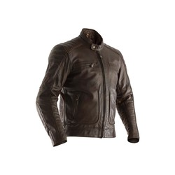 Brown Roadster II Leather Motorcycle Jacket Men